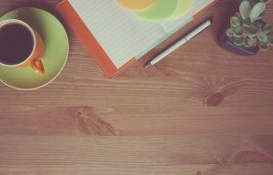 coffee, notebook, wooden