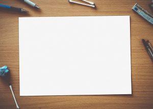 paper, blank, white